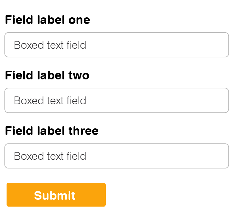 Top-aligned field example