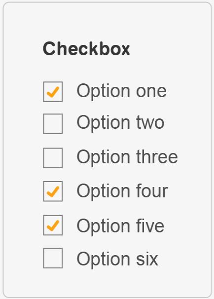 Checkbox example