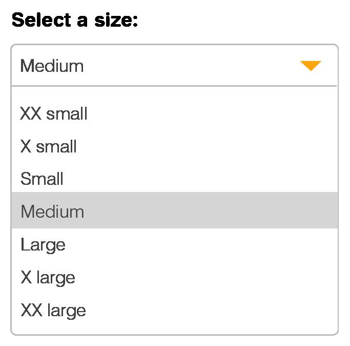 Drop down box example